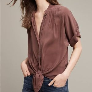 Anthropologie Maeve Rosalyn Silk Tunic Blouse